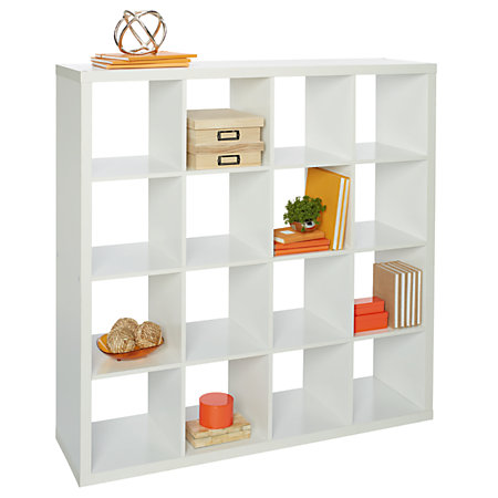 Bon Studio Cube Bookcase 16 White