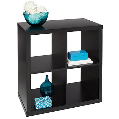 Bon Studio Cube Bookcase 4 Small Black