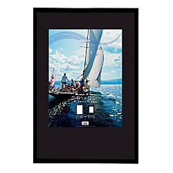 uniek gallery poster frame 24 x 36 black by office depot