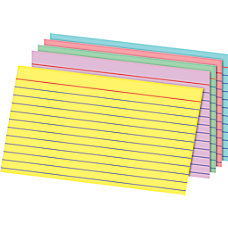 Office Depot Brand Rainbow Index Cards