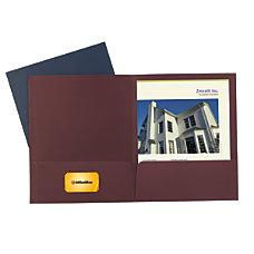 Office Depot 2 Pocket Linen Folders