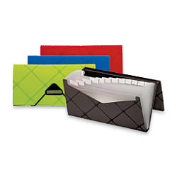 OfficeMax 13 Pocket Expanding File Check