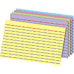 OfficeMax Index Card 4x6 Ruled Rainbow