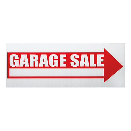 Cosco Garage Sale Sign Kit 6 X 17 Redwhite By Office Depot