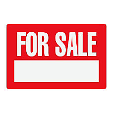Cosco For Sale Sign 8 x