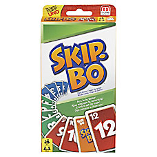 Mattel Skip Bo Card Game Strategy