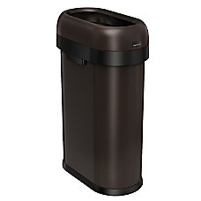 simplehuman Slim Open Trash Can 13