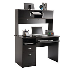 Illustra Transitional Engineered Wood Computer Desk With Hutch 56 ...
