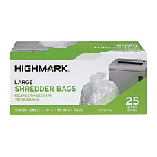 Highmark Shredder Bags 1 mil 15