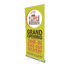 Vertical Retractable Indoor Banner With Stand