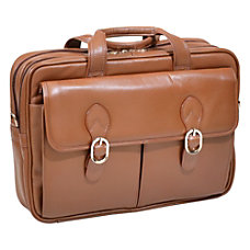 McKleinUSA Kenwood Leather Laptop Case Brown