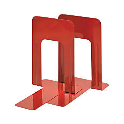 Steelmaster Soho 9 Deluxe Bookends Red