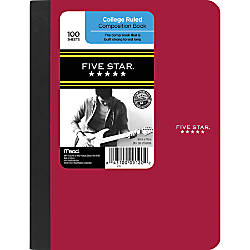 Five Star Composition Book 7 12