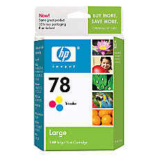 HP 78 Tricolor Ink Cartridge With