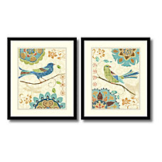Amanti Art Eastern Tales Birds Framed