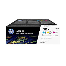 HP 312A CyanMagentaYellow Toner Cartridges CF440AM