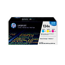 HP 124A Tricolor Original Toner Cartridges