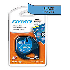 DYMO LetraTag 91335 Black On Blue