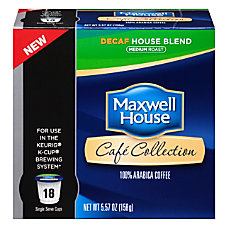 Maxwell House K Cups Decaffeinated House