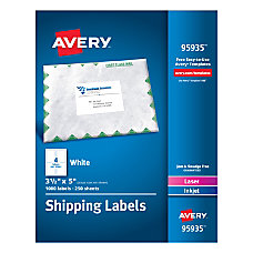 Avery Bulk Shipping Labels 3 12