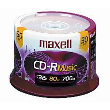 Maxell Music CD R Media Spindle
