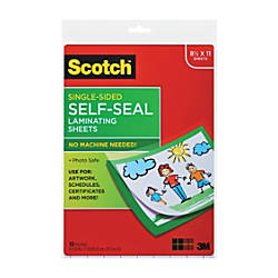 Scotch Laminating Sheets 8 12 x