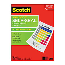 Scotch Self Seal Laminating Sheets 8