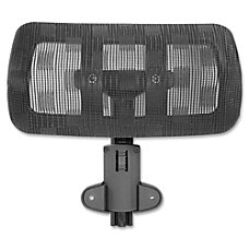 Lorell 85560 Mesh Headrest Black Nylon