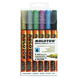 MOLOTOW One4All 2mm Acrylic Markers Metallic
