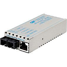 miConverter 10100 Plus Ethernet Fiber Media
