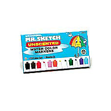 Sanford Mr Sketch Watercolor Markers Unscented