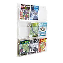 Clear Literature Rack Magazine 9 Pockets
