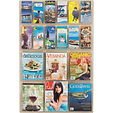 Clear Literature Rack Combination 6 Magazine