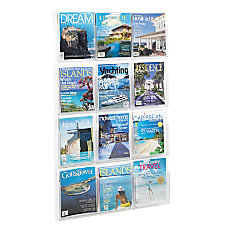 Clear Literature Rack Magazine 12 Pockets