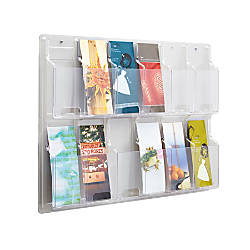 Clear Literature Rack Pamphlet 12 Pockets