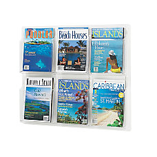 Clear Literature Rack Magazine 6 Pockets