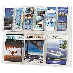 Clear Literature Rack Combination 3 Magazine