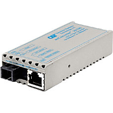 miConverter 10100 Plus Ethernet Single Fiber