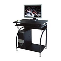 Comfort products stanton computer desk black by office depot officemax - Office max office desk ...