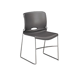 Stack Chairs Charcoal By Office Depot OfficeMax