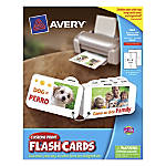 Avery Custom Print Flash Cards With