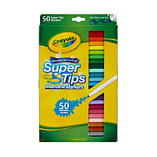 Crayola Super Tips Washable Markers Conical
