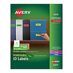 Avery Removable LaserInkjet Multipurpose Labels 1