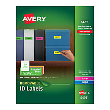 Avery Removable LaserInkjet Organization Labels 1