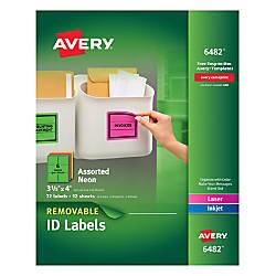 Avery Removable LaserInkjet Multipurpose Labels 3