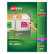 Avery Removable LaserInkjet Organization Labels 3