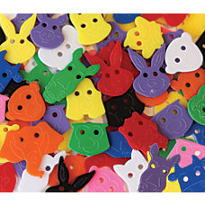 Creativity Street Animal Face Buttons Assorted