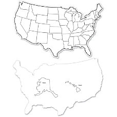 ChenilleKraft 2 Sided USA Map Whiteboard