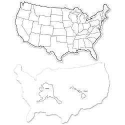 ChenilleKraft Large USA Maps Whiteboard 12