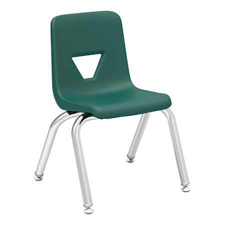 Lorell Student Stacking Chairs 22 H GreenSilver Set Of 4 By Office Depot Amp